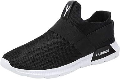 Zapatillas Deporte Hombres Running LANSKIRT Zapatillas Running Hombres Ofertas Transpirables con Estilo Zapatos Verano Ligeras Calzado sin Cordones: Amazon.es: Ropa y accesorios