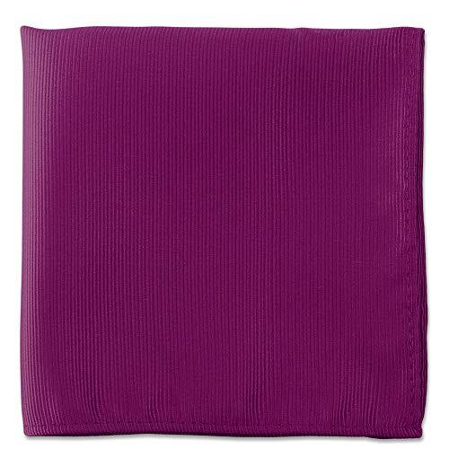 Purple Pocket Squares For Men - Mens Woven Pocket Square Tuxedo Wedding Solid Color Formal Handkerchiefs -
