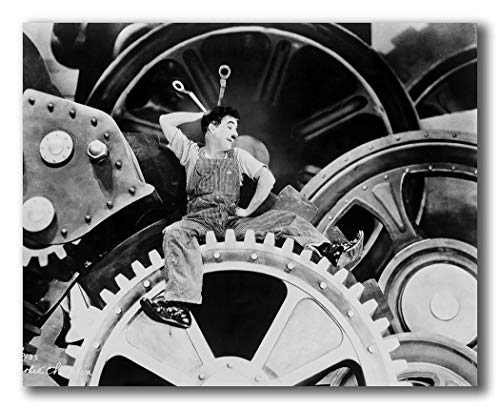 wallsthatspeak A Film Still of Charlie Chaplin Inside a Machine from Modern Times Printed on 30x24 Poster Wall Art by Movie Star News (Best British Comedians Of All Time)