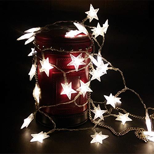 JIA 1.5m Batería Led Star String Lights Fairy Garland 2.5m Usb ...