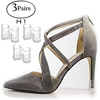 9a81a974b7c76 Heel Hunks Clear-Glass H1 9.9mm 3-Pairs Heel Protectors Replacement Tip  Caps for High Heel Shoes...