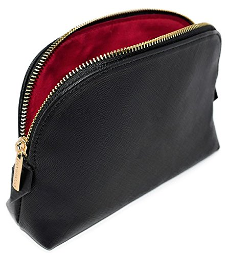 MONTROSE Medium Cosmetic Makeup Bag for Womens Accessories & Toiletries, Black