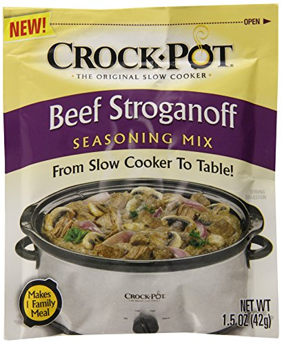 Crock Pot Seasoning Mix, Beef Stroganoff, 1.5 Ounce (Pack of 12)