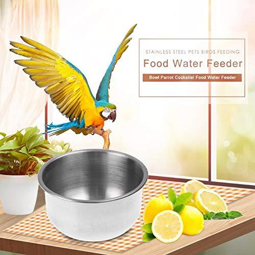 VietFA Bird Feeding - Stainless Steel Pets Birds Feeding Bowl Parrot Cockatiel Food Water Feeder Supplies Birdcage Accessories Dropshipping - by GTIN - 1 Pcs
