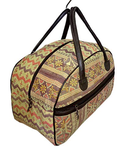 Bhavya International Indian Cotton Handmade Kantha Carry Bag Luggage Duffle  Bag Bowling Bag Vintage Hobo Travelling Handbag Women s Leather Bag Large  Size ... 5f2e2125f08e3
