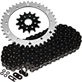 #7: Caltric Black O-Ring Drive Chain & Sprockets Kit Fits YAMAHA RAPTOR 660 YFM660R YFM-660R 2001-2005