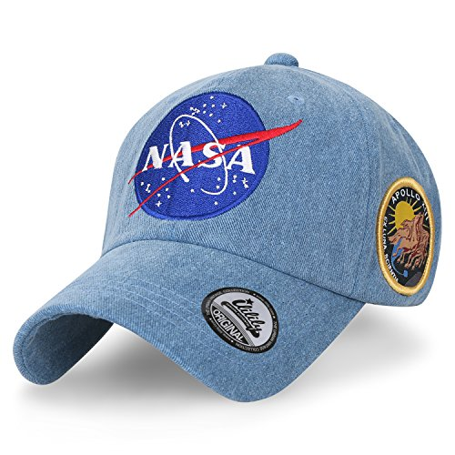 homme les ventes chaudes grandes marques ililily NASA Meatball Logo Embroidery Baseball Cap Apollo 13 Patch Trucker  Hat