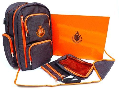 Diaper Bag Backpack by AlphaDad - USB Charging Port - Large