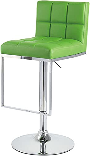 Set of 2 Alex Contemporary Adjustable Barstool – Lime Green