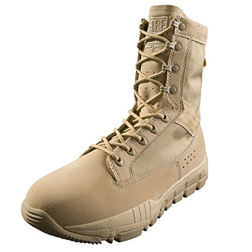 FREE SOLDIER Men's Outdoor Ultralight Breathable Military Desert Boots Tactical Duty Work Boot (Desert Tan, 12 D(M) US)