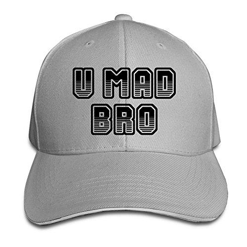 MaNeg U MAD BRO Sandwich Peaked Hat & Cap