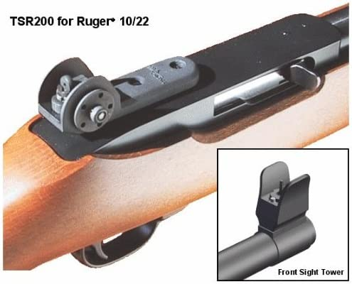 Amazon Com Tech Sight Tsr200 Adjustable Aperture Sight For The Ruger 10 22 Rifles Sports Outdoors