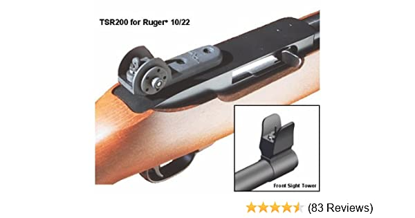 Fits Ruger 10//22 Flip Up Rear OPEN Sights 10 22 Windage BUIS BRAND Backup Sight