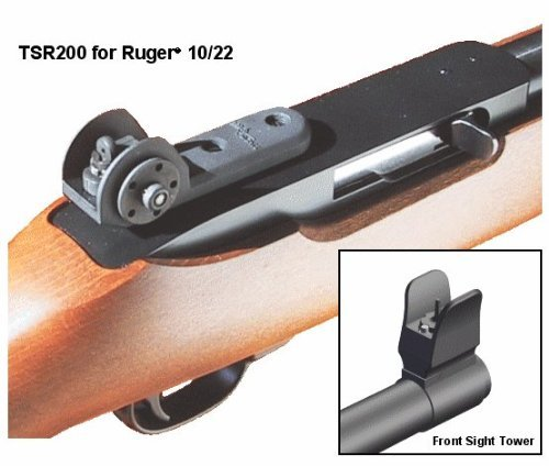 Tech Sight's TSR200 Adjustable Aperture Sight for the Ruger 10/22 Rifles (Rear Ruger 10 Sight 22)