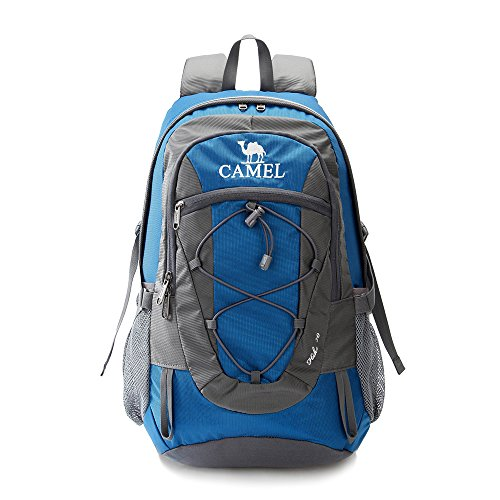 Camel 30L Lightweight Travel Backpack Outdoor mountaineering Hiking Daypack with Durable & Waterproof (Blue)