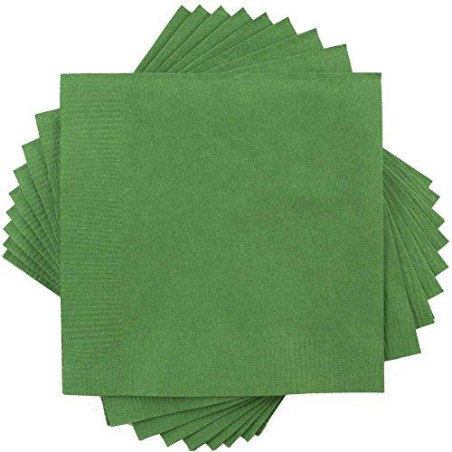 Hunter Green Lunch Napkins (JAM Paper Medium Lunch Napkins - 6 1/2