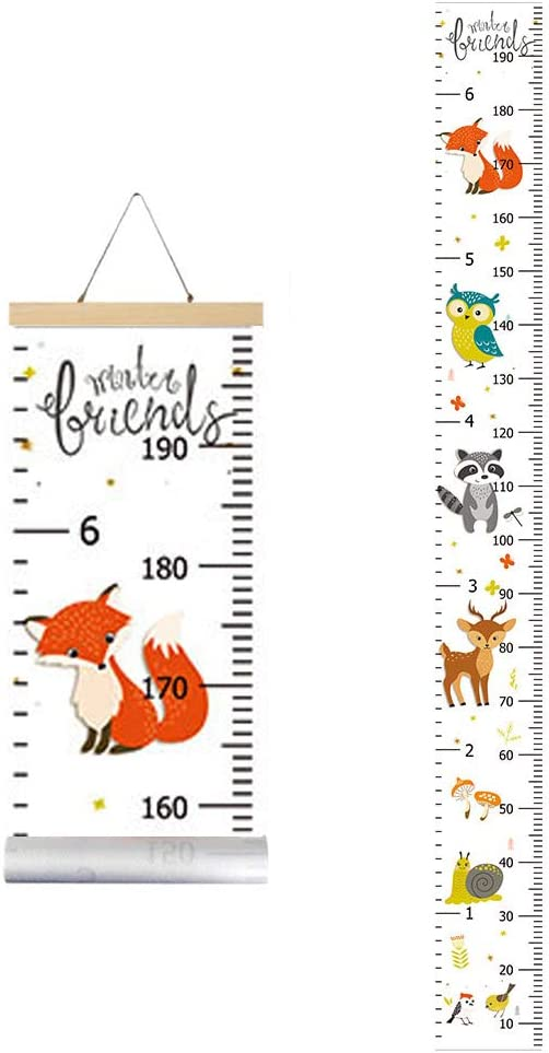 IWILCS Children Height Chart Chart Art Hanging Rulers for Kids Bedroom Nursery Wall Decorations Height and Growth Chart Kids Growth Wall Chart