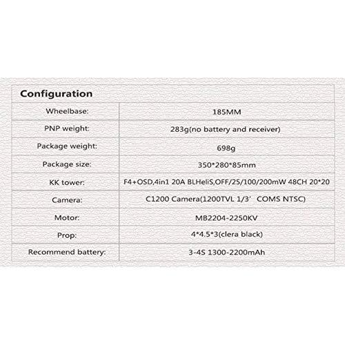 Wikiwand LDARC ET MAX 185mm 4'' 3-4S FPV Racing Drone PNP F4 Flight Controller OSD 20A
