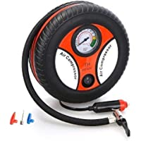 ILLUVATE Portable Electric Mini DC 12V Air Compressor Pump for Car & Bike Tyre Tire Inflator Pump for Motorcycles, Bike Motorbike, Bicycle Tyre Balls, Tires Car