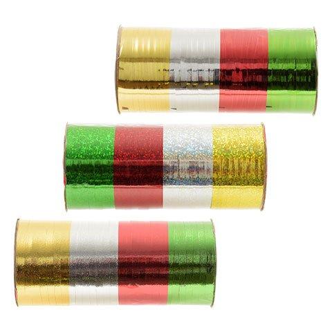 Christmas Metallic Curling Ribbon 3 PACK (Christmas Ribbons)