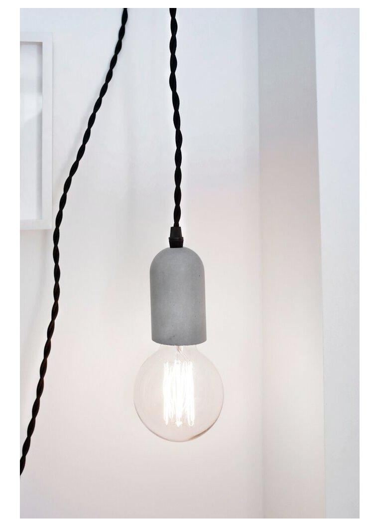 Amazon kikkerland cylinder concrete pendant lamp home kitchen aloadofball Image collections