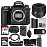 Cheap Nikon D750 Digital SLR Camera Body with 50mm f/1.4G AF-S Lens + 64GB Card + Case + Battery & Charger + Grip + 3 Filters + Kit