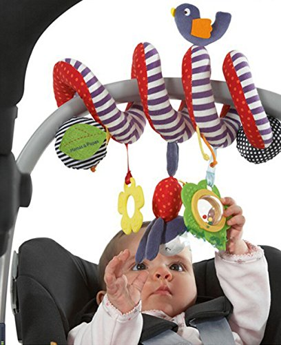 CdyBox Stroller Car Seat Musical Toy for Baby/Cot Spiral Hanging Toy Entertainment BB Travel Activity by CdyBox