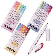 Zebra Mildliner Soft Color Double-Sided Highlighter Pens Deep, Warm & Cool (3 Pack Sale) by Zebra