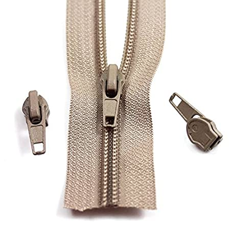 Beige Zipping 25m continuous length