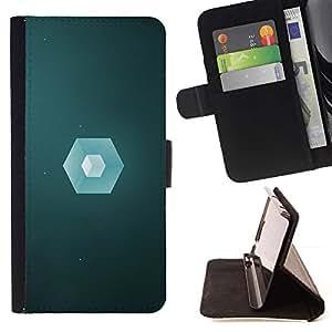 Momo Phone Case / Flip Funda de Cuero Case Cover - Polígono Cube;;;;;;;; - Sony Xperia M4 Aqua