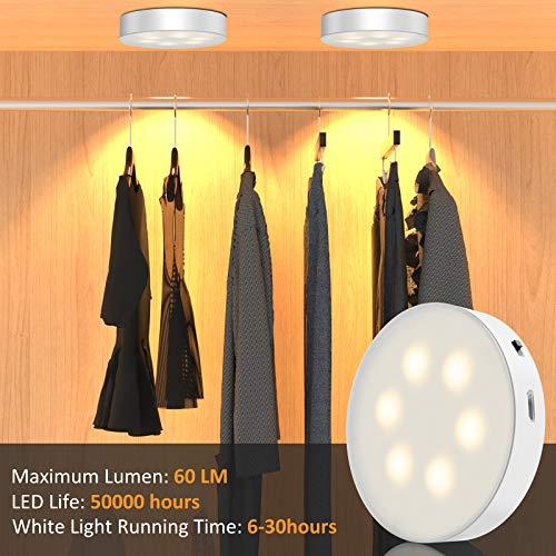 Luci sotto l\'armadio morpilot LED Luce Notturna con USB ricaricabile, 3PCS LED Lampada da Parete con Telecomando, Luce adesiva Per Vetrine Credenza Guardaroba Corridoio Cucina