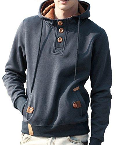 Mens Hooded Fleece Sweatshirt - 6
