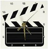 3dRose dc_43830_1 Movie Clapboard Desk Clock, 6 by 6-Inch