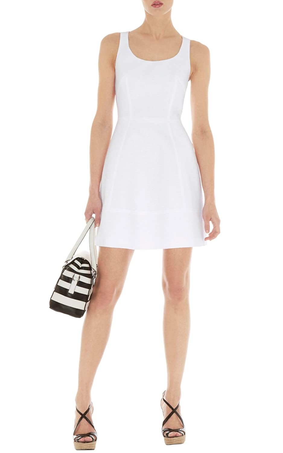 Karen Millen white cotton dress DQ232