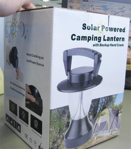 Solar Powered Camping Lantern 8.5 tall Solar Wholesale solar medium lantern 12 LEDs 6V//70 mA Solar Panel Solar and Hand Crank