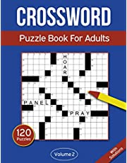 Crossword Puzzle Book For Adults: 120 Crossword Puzzles For Adults & Seniors - Volume 2
