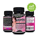 Natural Pueraria Mirifica Daily 1000mg Capsules - Breast Enhancement Pills For Women - Breast Enlarger, Vaginal Health, Menopause Relief, Skin & Hair Health 60 Vegetarian Capsules