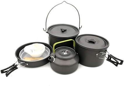 Utensilios de cocina de camping Conjuntos de equipos de ...