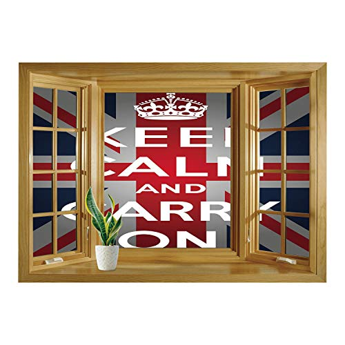 SCOCICI Window Mural Wall Sticker/Union Jack,Keep Calm for sale  Delivered anywhere in USA