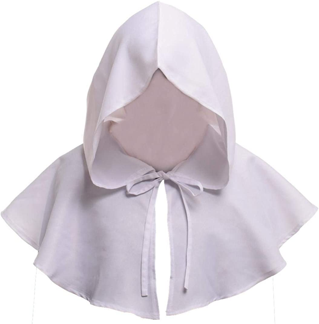 SN/_ MEDIEVAL HOODED COWL HAT MONK CLERGY WITCH WIZARD CAPE FANCY HALLOWEEN COS
