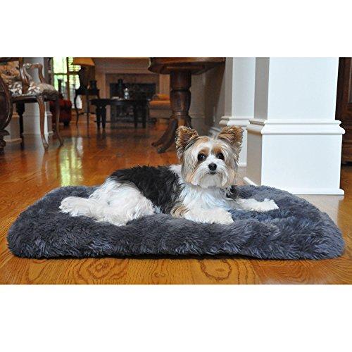 Slumber Minky Faux Fur Dog Cushion - Gray by DOGGIE DESIGN