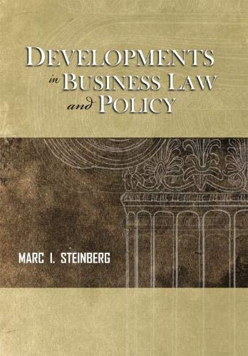 Developments in Business Law and Policy