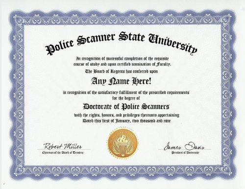 Police-Scanner-Scanners-Degree-Custom-Gag-Diploma-Doctorate-Certificate-Funny-Customized-Joke-Gift-Novelty-Item