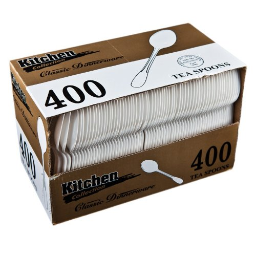 White Tea Spoons Medium Weight 400CS