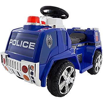 Ride on toy police truck for kids battery for Motorized ride on toys for 5 year olds