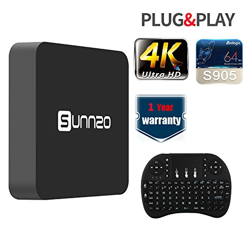 SUNNZO SK08 Smart TV Box Android 6.0 Amlogic S905, Streaming