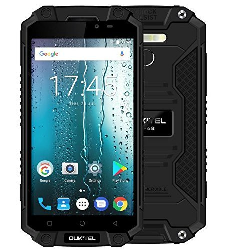 Oukitel K10000 Max 4G Smartphone 5.5 inches 10000mAh Super Large Capacity Battery IP68 Waterproof Dustproof Android 7.0 Octa Core 1.5GHz 3GB RAM 32GB ROM 16MP Camera OTG (Black)