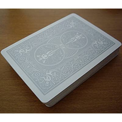 Bicycle Silver Rider Back Playing Cards Poker Size Deck: Toys & Games