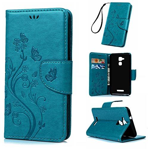 badalink-asus-zenfone-3-max-wallet-case-52-3d-embossed-butterflies-pu-leather-flip-stand-shockproof-
