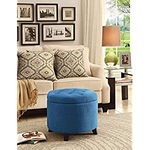 Convenience Concepts Designs4Comfort Round Ottoman, Tan